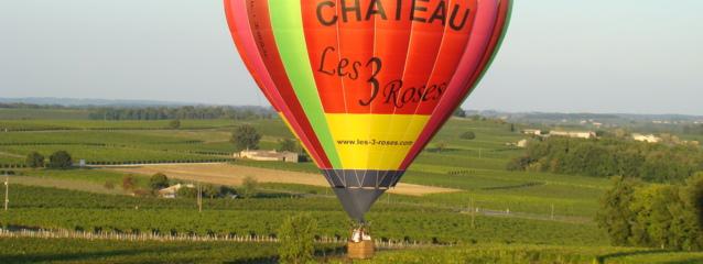 vol montgolfiere gironde, montgolfiere aquitaine,baptême de l'air montgolfiere gironde
